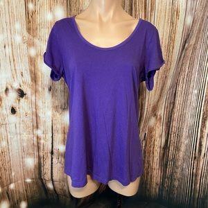 Cacique Sleepwear Purple Tee
